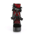 Red Chained in Lace ankle boots