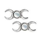 triple goddess earrings