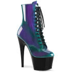 purple and green ombre platform boots
