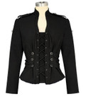 gothic military jacket with lace up front