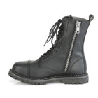 10 Eyelet Vegan Leather Riot Boots
