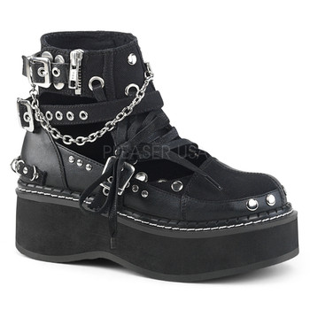 c86879119453 Ankle high vegan oxfords with buckles and chains ...
