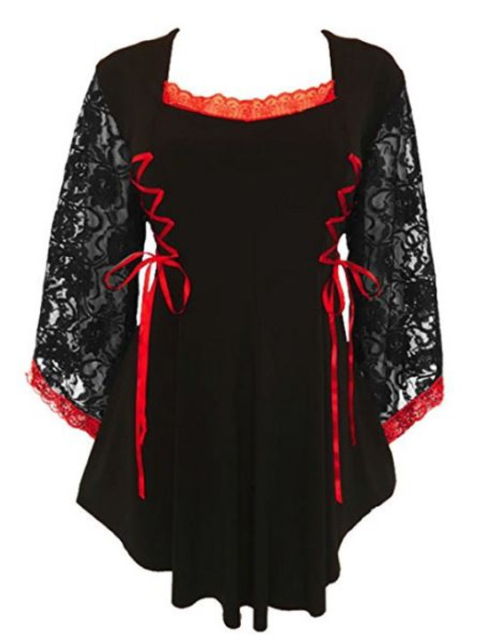 Black and Red Anastasia Blouse