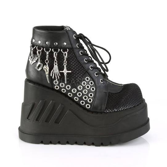 Black Fishnet Charmed Boots