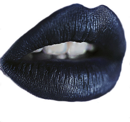 dark metallic blue liquid lipstick