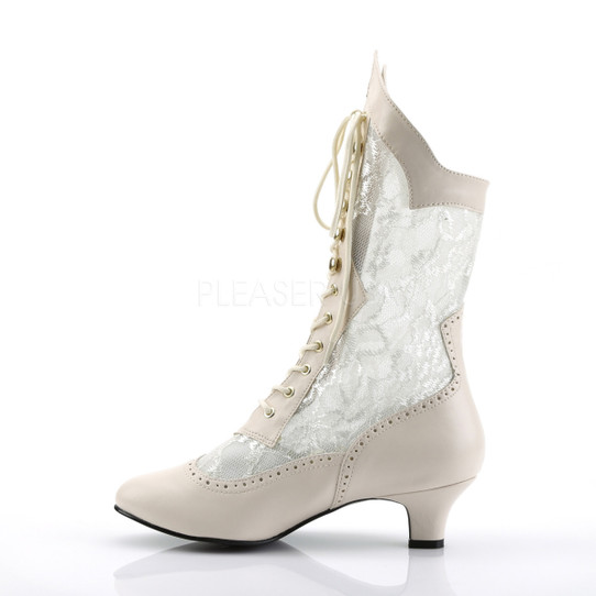 ivory victorian lace boots right