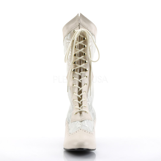 ivory victorian lace boots front