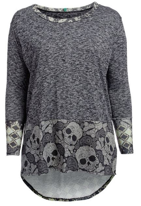 Plus size skull top