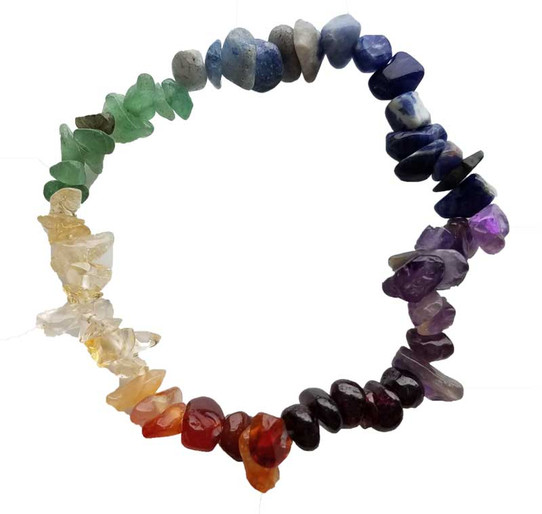 rainbow gemstone bracelet