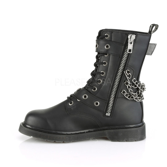 Buckle and Chain Combat Boots