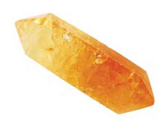 citrine quartz crystal point