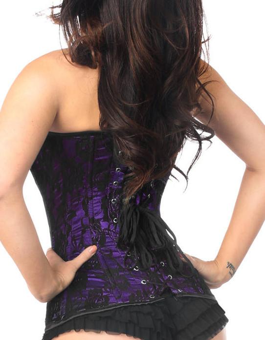 Aconite Purple and Black Lace Corset