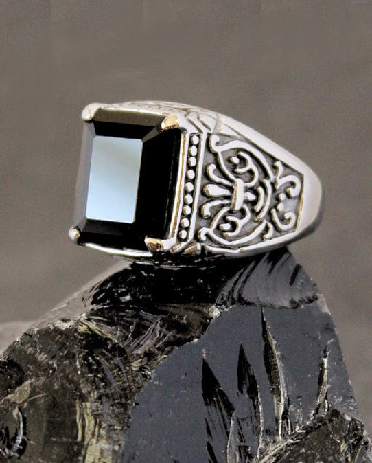My Soul Onyx & Stainless Steel Ring