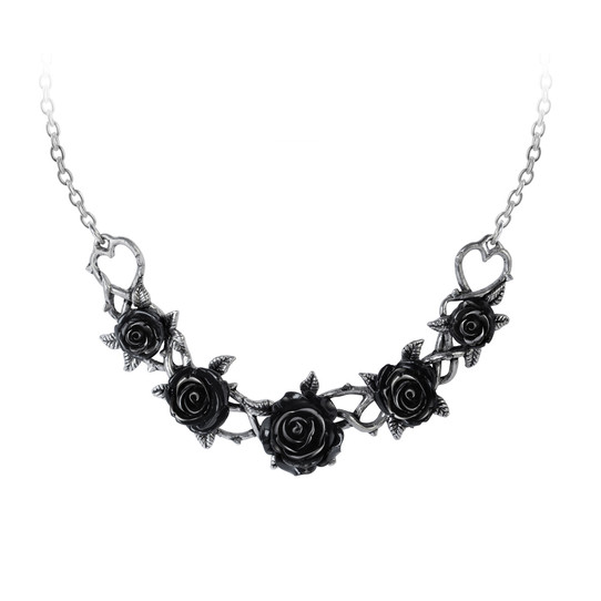 black rose choker by alchemy gothic