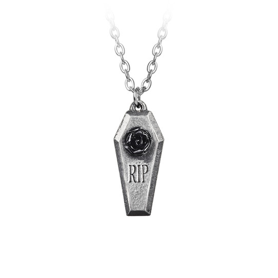 dead souls coffin necklace by Alchemy