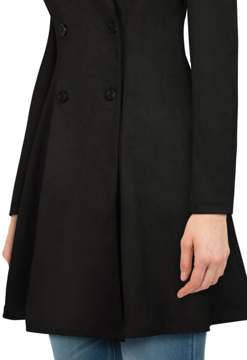 Isolation Faux Suede Trench Coat