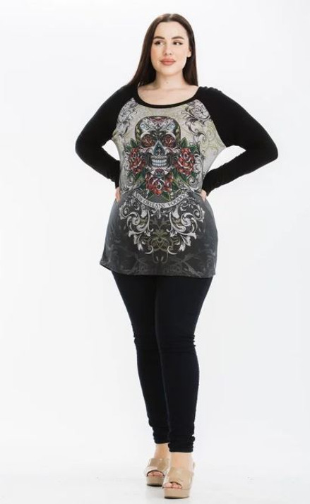 New Orleans Voodoo Skull Top