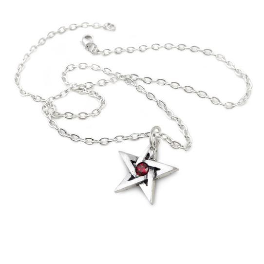 Blood stone Pentagram necklace