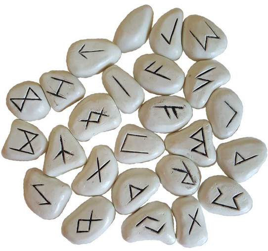 White Resin Rune Set