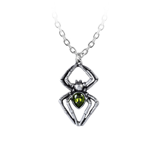 Emerald Spiderling Necklace