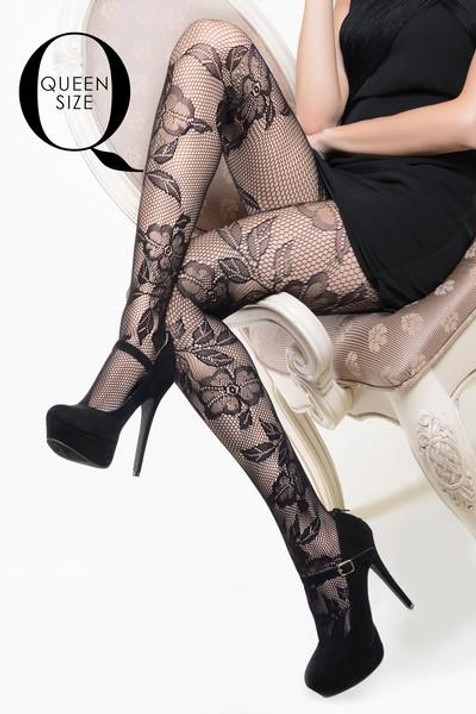PLUS SIZE Lace and Roses fishnets