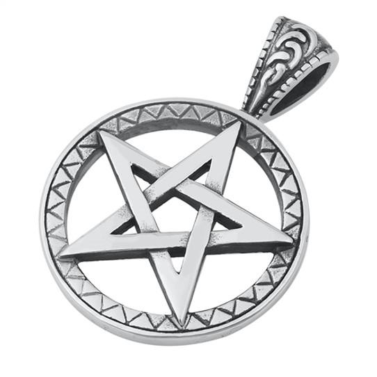 Stainless Steel Pentagram Pendant