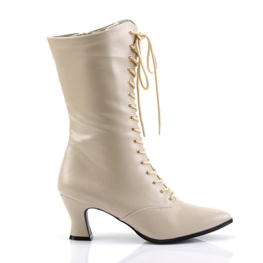 Cream  Victorian Boots