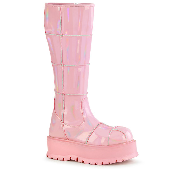 Patched in Pink Boots