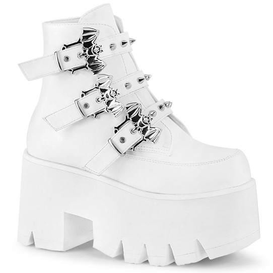 Colony Combat Boots in White
