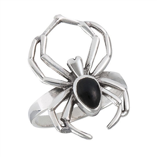 sterling spider ring with onyx