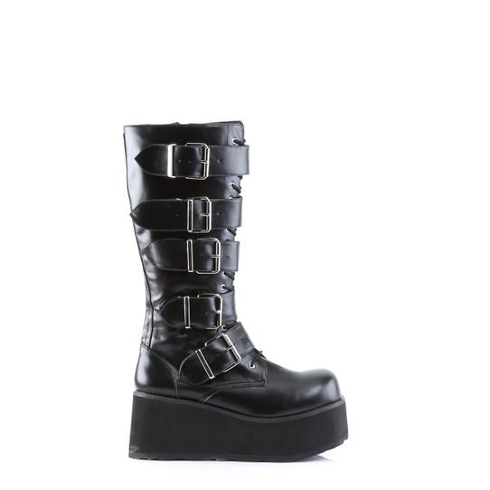 Big Buckle Combat Boots