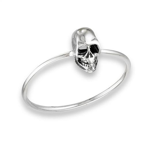 Sterling Skull Ring
