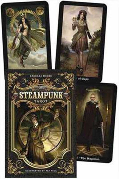 Steampunk tarot and book set