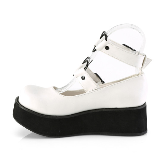 I Heart Mary Janes in White