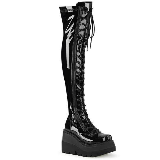 Quake Patent Thigh Hi Boots