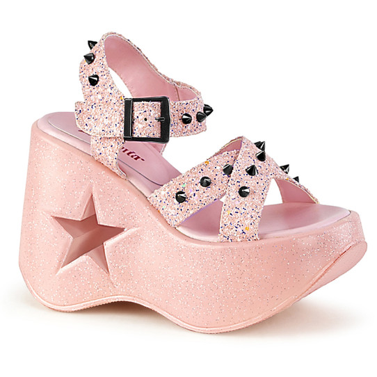 Pink Star Studded Sandals