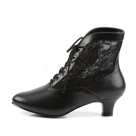 Black Victorian Lace Ankle Boots