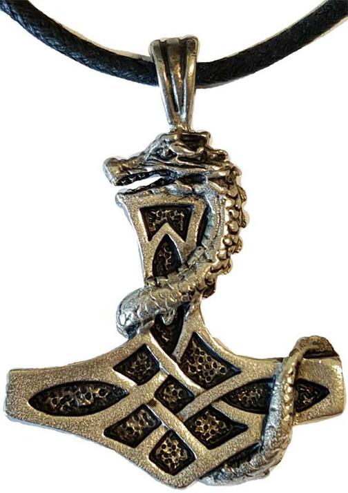 Dragon Thor's Hammer amulet