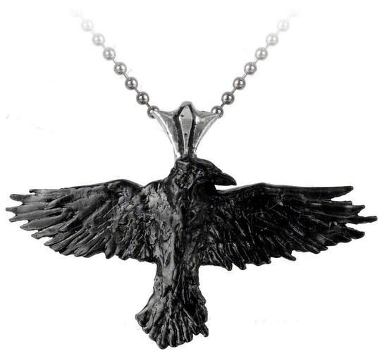 raven necklace