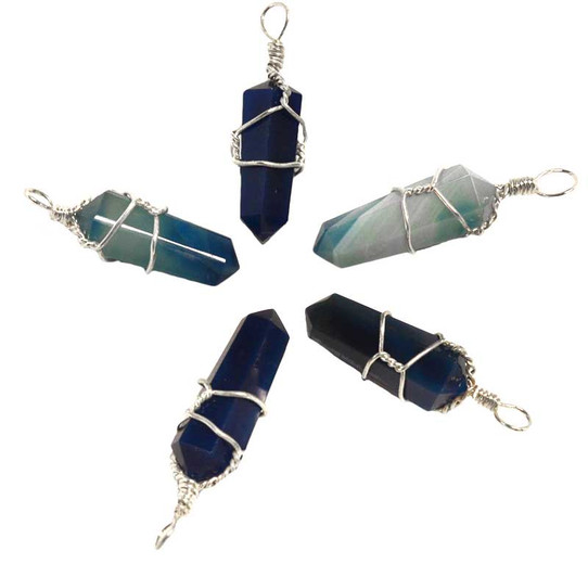 Wire Wrapped Blue onyx Point