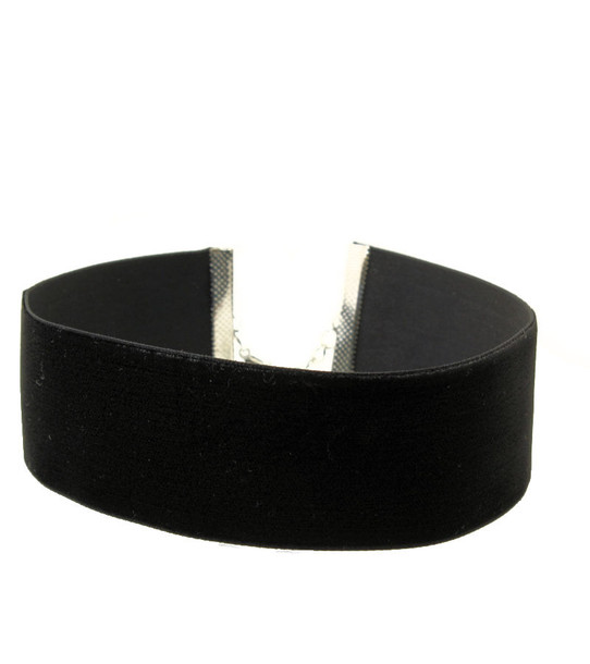 wide black velvet choker