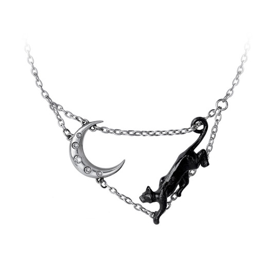 Minnaloushe Cat and the Moon necklace