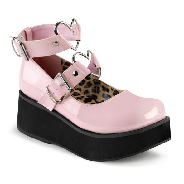 I Heart Mary Janes in Pink