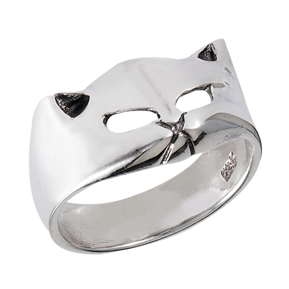 Katty Sterling Silver cat ring