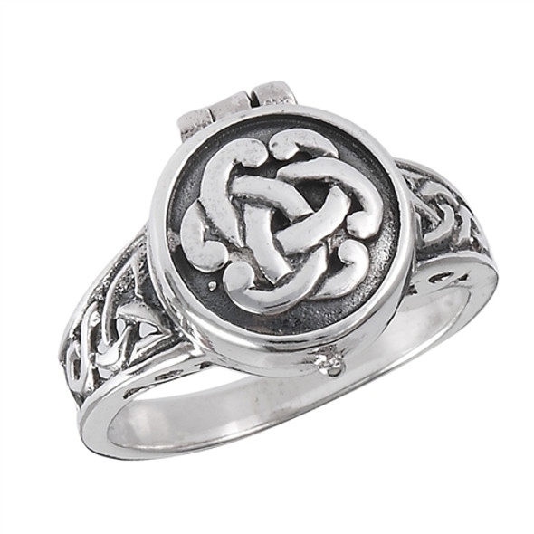 Sterling Silver Celtic Poison Ring