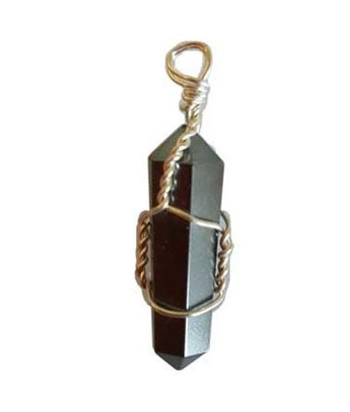 Wire Wrapped Hematite Point