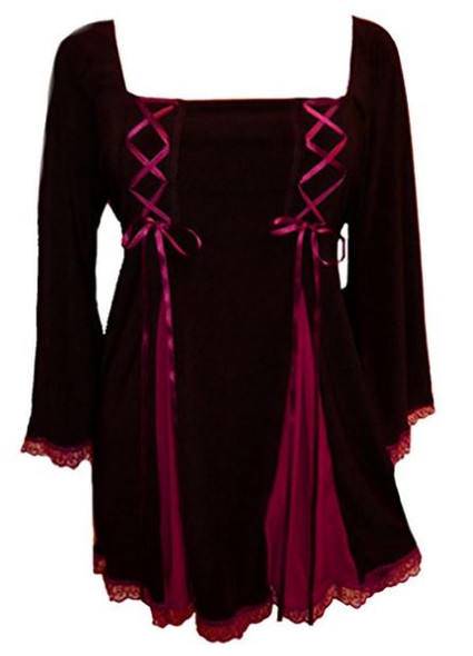 Gemini Princess Burgundy Top