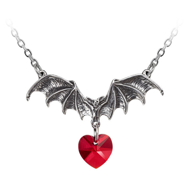 I Heart Bats Necklace
