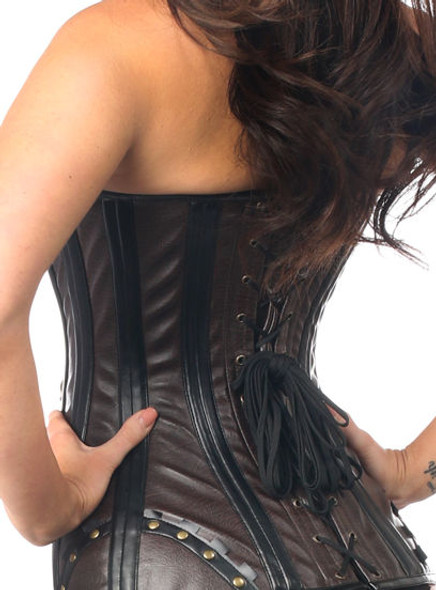 Rust Belt Steampunk Steel Boned Corset
