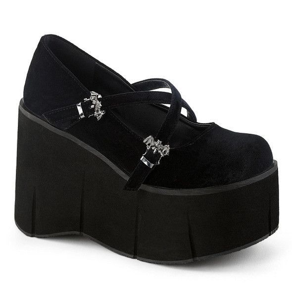velvet bat buckle mary janes